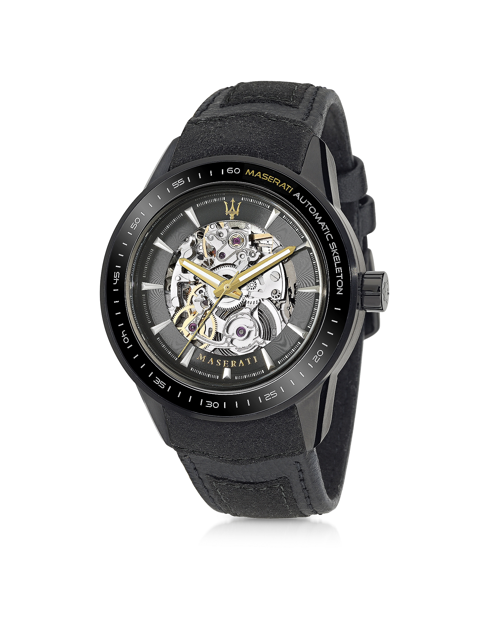Maserati Men's Watches, Corsa Black Stainless Steel Automatic Skeleton Men's Watch