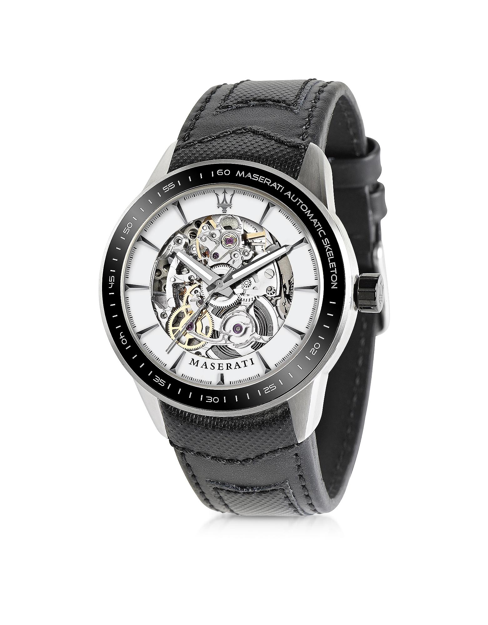 Corsa Skeleton - Черные Автоматические Мужские Часы из Нержавеющей Стали