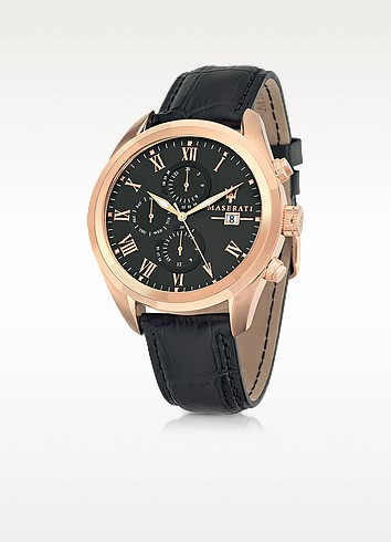 Pole Position Rose Gold PVD Stainless Steel Men's Watch - Maserati