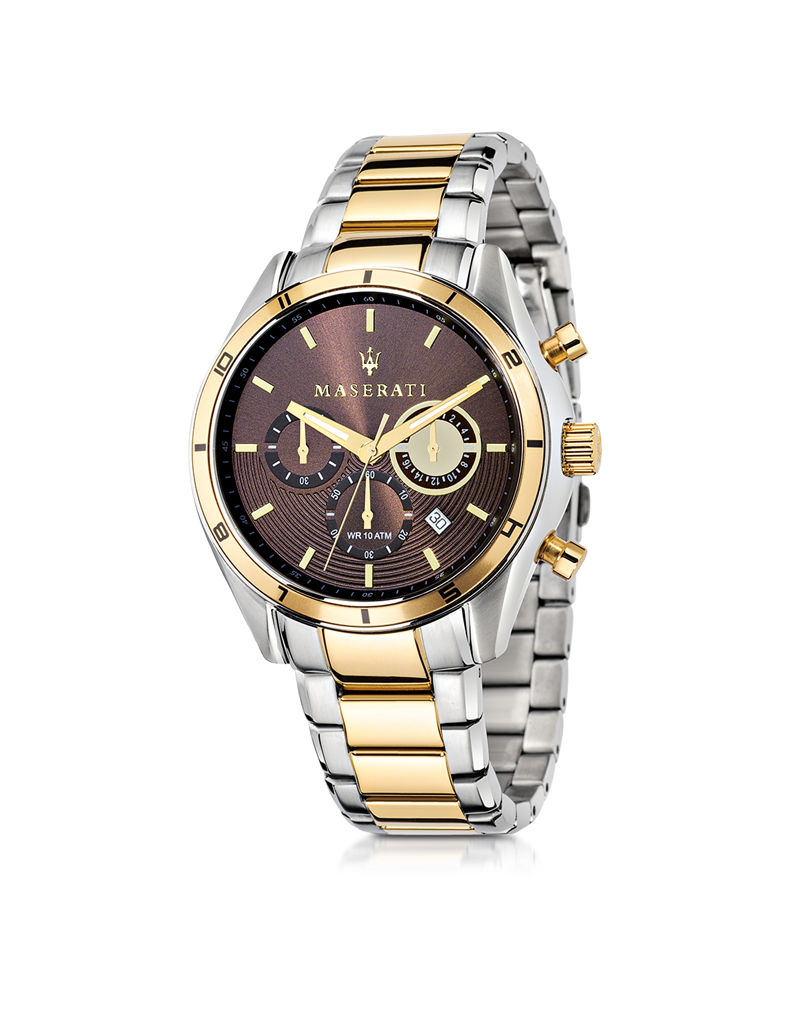 Maserati Men's Watches, Sorpasso Two Tone Stainless Steel Chrono Men's Watch