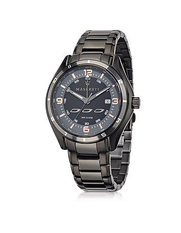 Sorpasso Black Stainless Steel Men's Watch