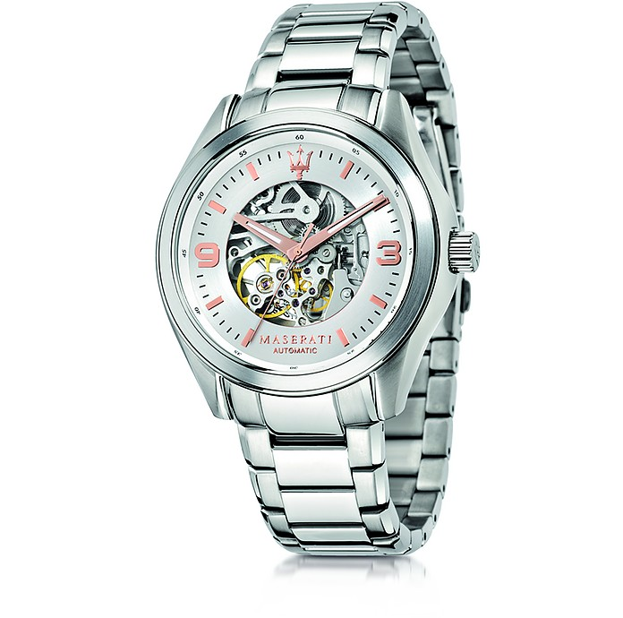 Sorpasso Silver Tone Stainless Steel Men's Watch - Maserati