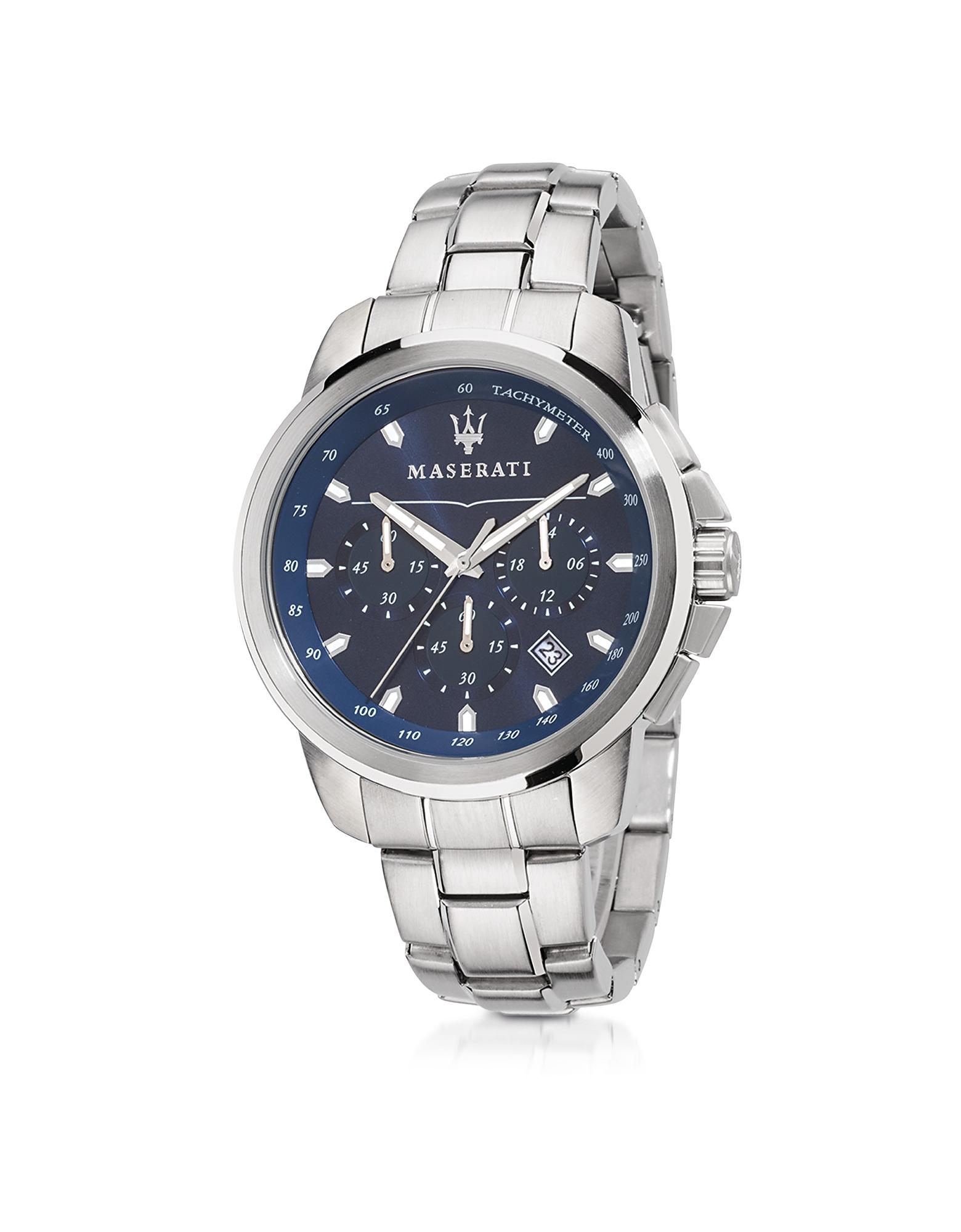 Successo - Серебристые Мужские Часы Хронограф из Нержавеющей Стали