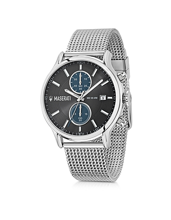 Maserati - Epoca Silver Tone Stainless Steel Men's Chrono Watch