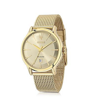 Maserati - Epoca Gold Tone Stainless Steel Men's Watch