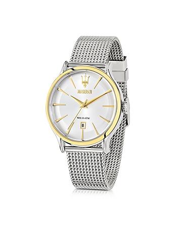 Maserati - Epoca White Dial Stainless Steel Men's Watch