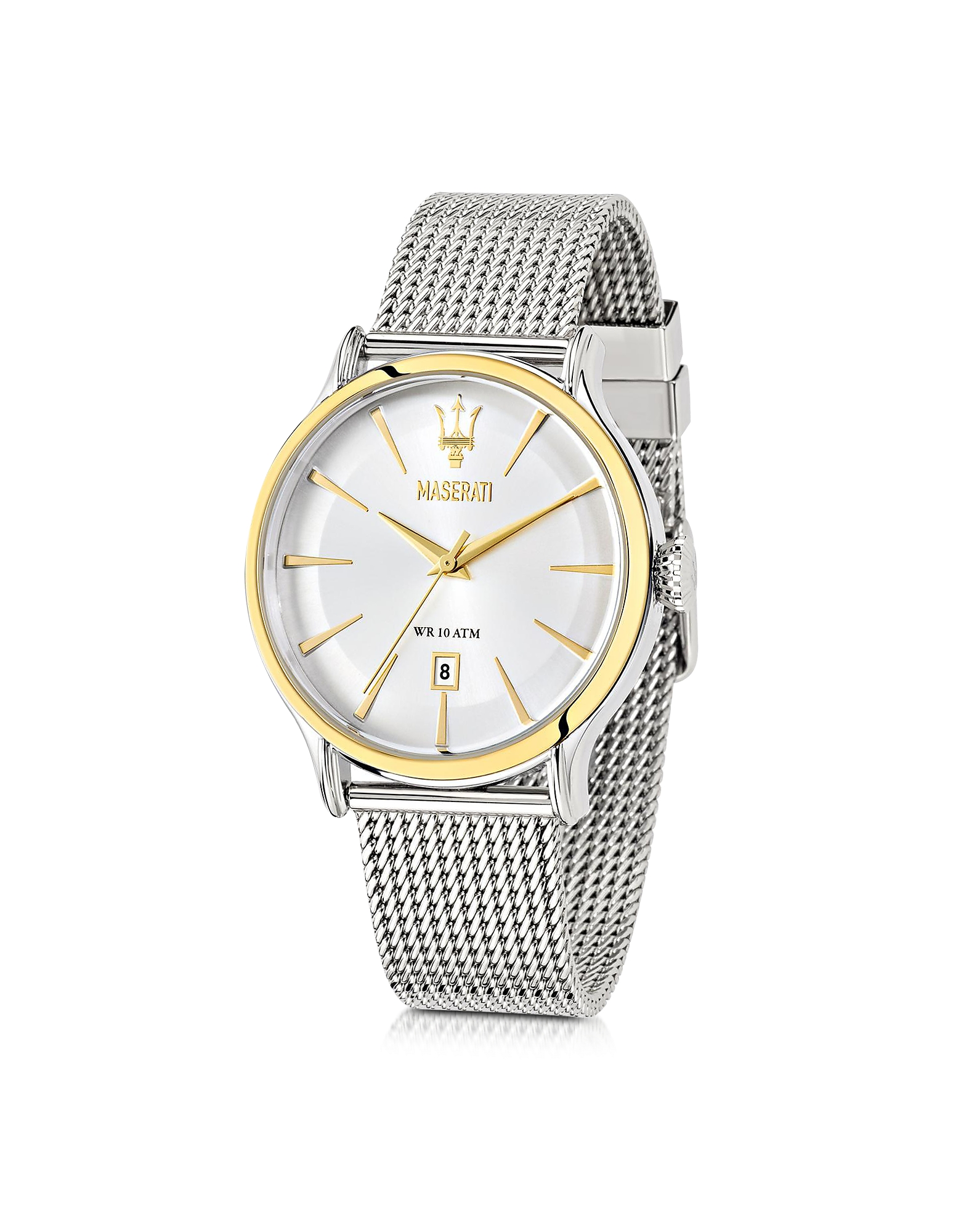 Maserati Men's Watches, Epoca White Dial Stainless Steel Men's Watch