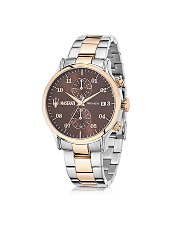 Epoca Brown Dial Two Tone Stainless Steel Men's Watch