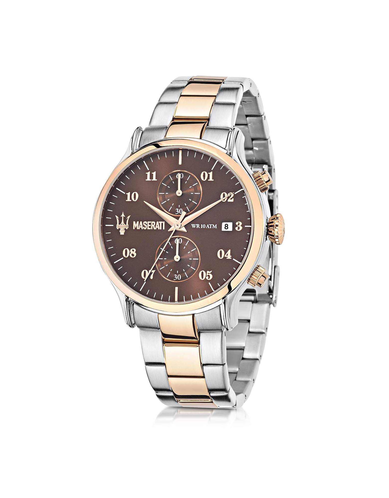 Maserati Men's Watches, Epoca Brown Dial Two Tone Stainless Steel Men's Watch
