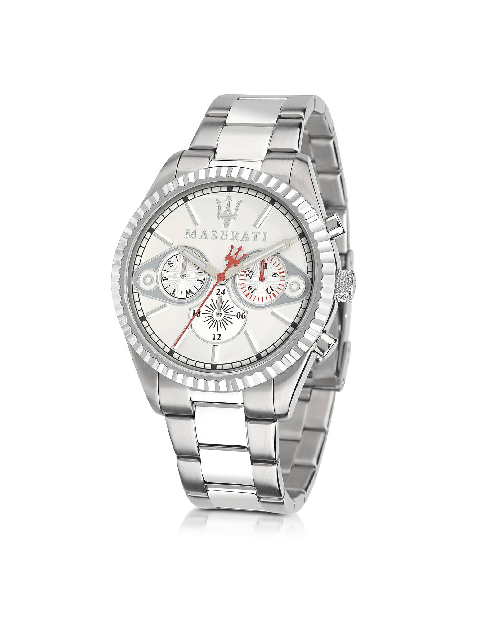 Maserati Men's Watches, Competizione Chronograph Multi Silver Dial Stainless Steel Men's Watch