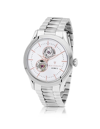 Maserati - Tradizione Silver Tone Stainless Steel Men's Bracelet Watch