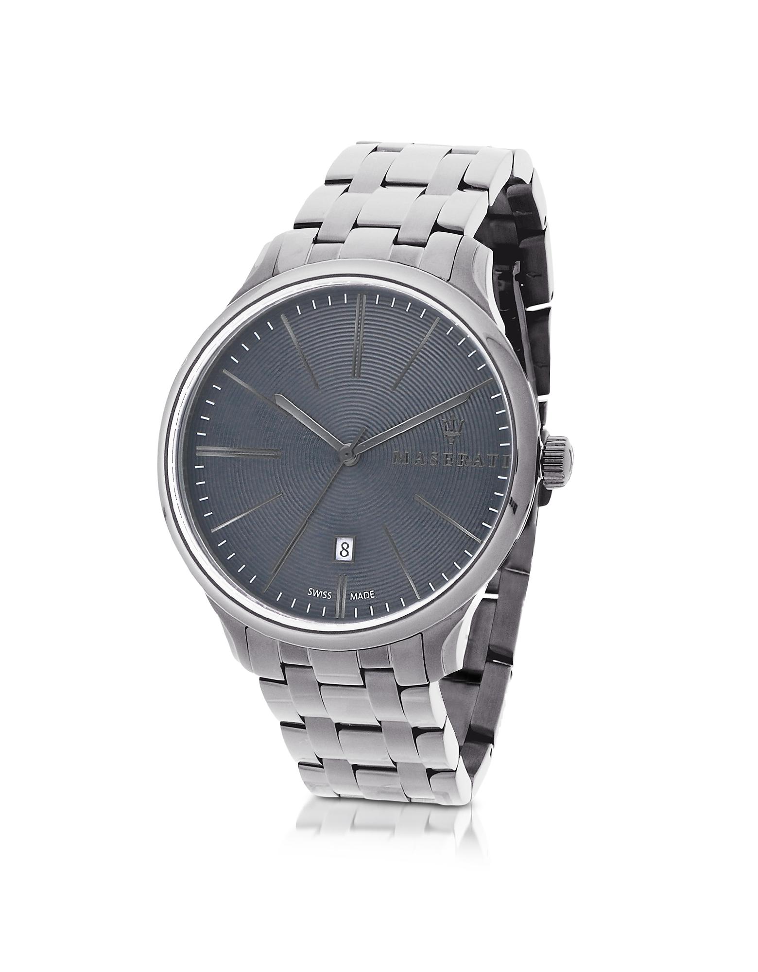 Фото Attrazione - Серебристые Мужские Часы с Браслетом из Нержавеющей Стали. Купить с доставкой