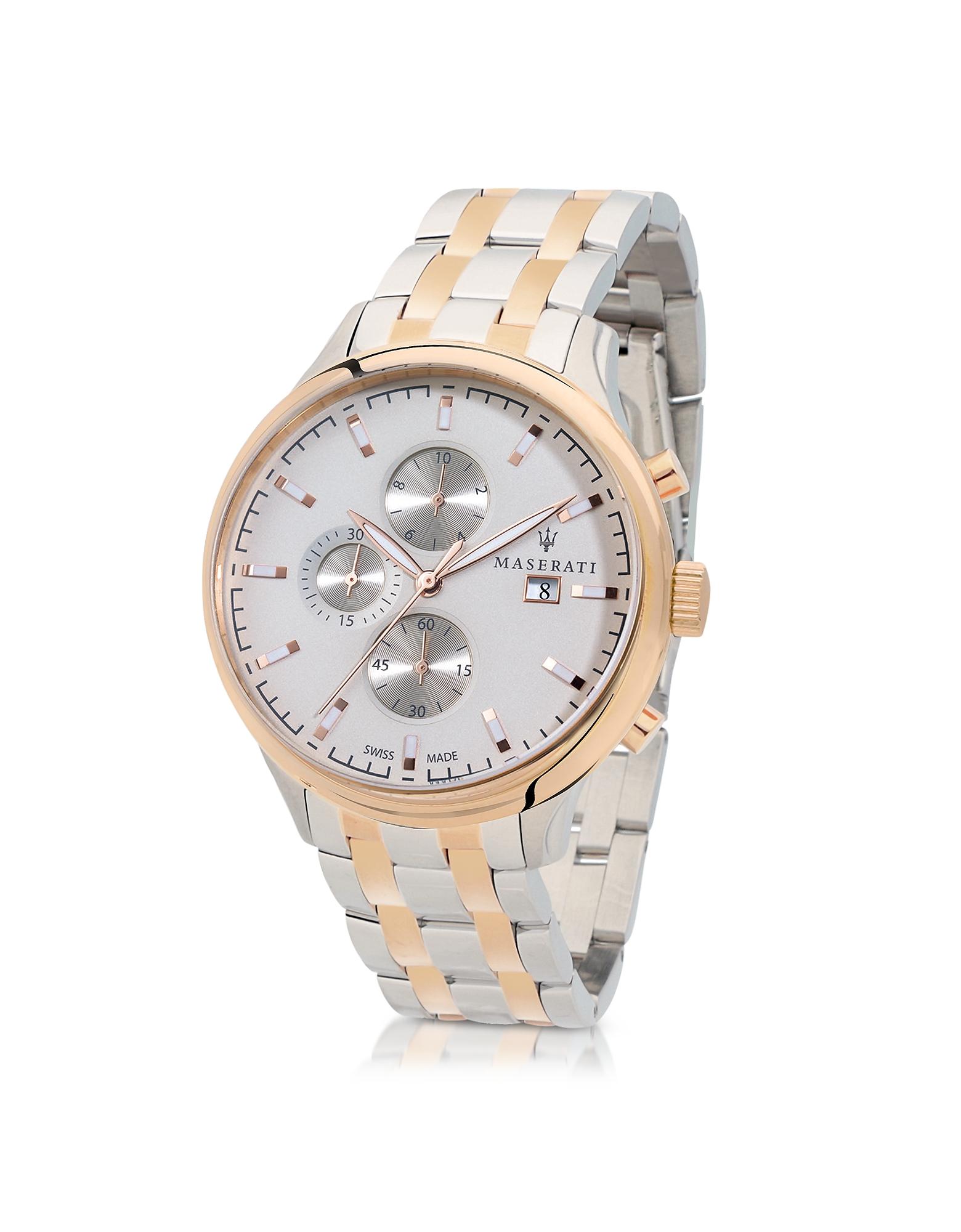 Attrazione Orologio con Cronografo in Acciaio PVD Oro Rosé