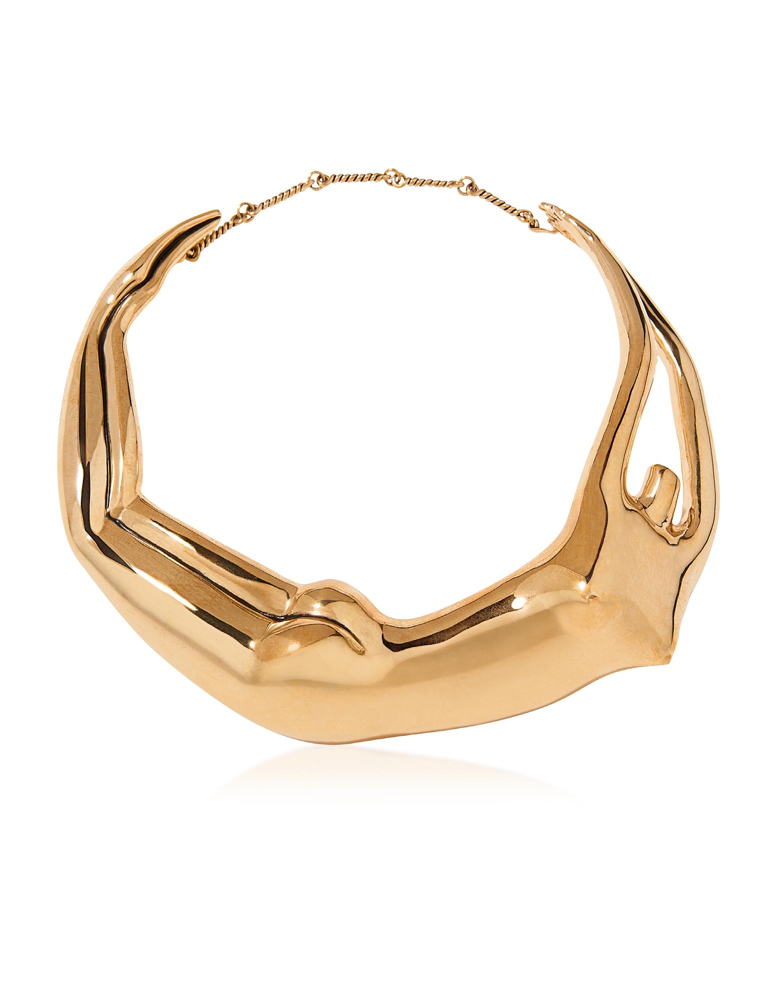Aurelie Bidermann Figuratives Body - Позолоченное Ожерелье