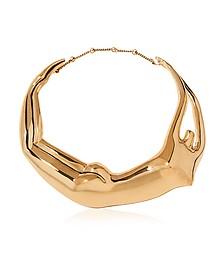 Figuratives Body Gold Plated Necklace - Aurelie Bidermann