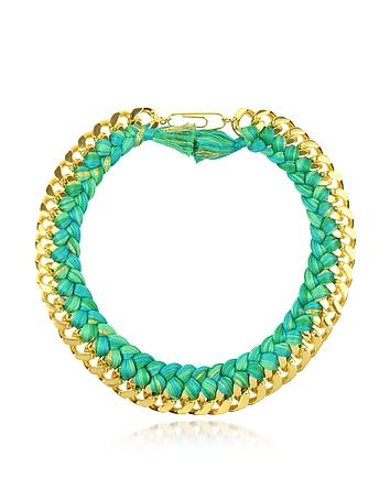 Aurelie Bidermann Do Brasil Halskette aus Gold und Baumwolle