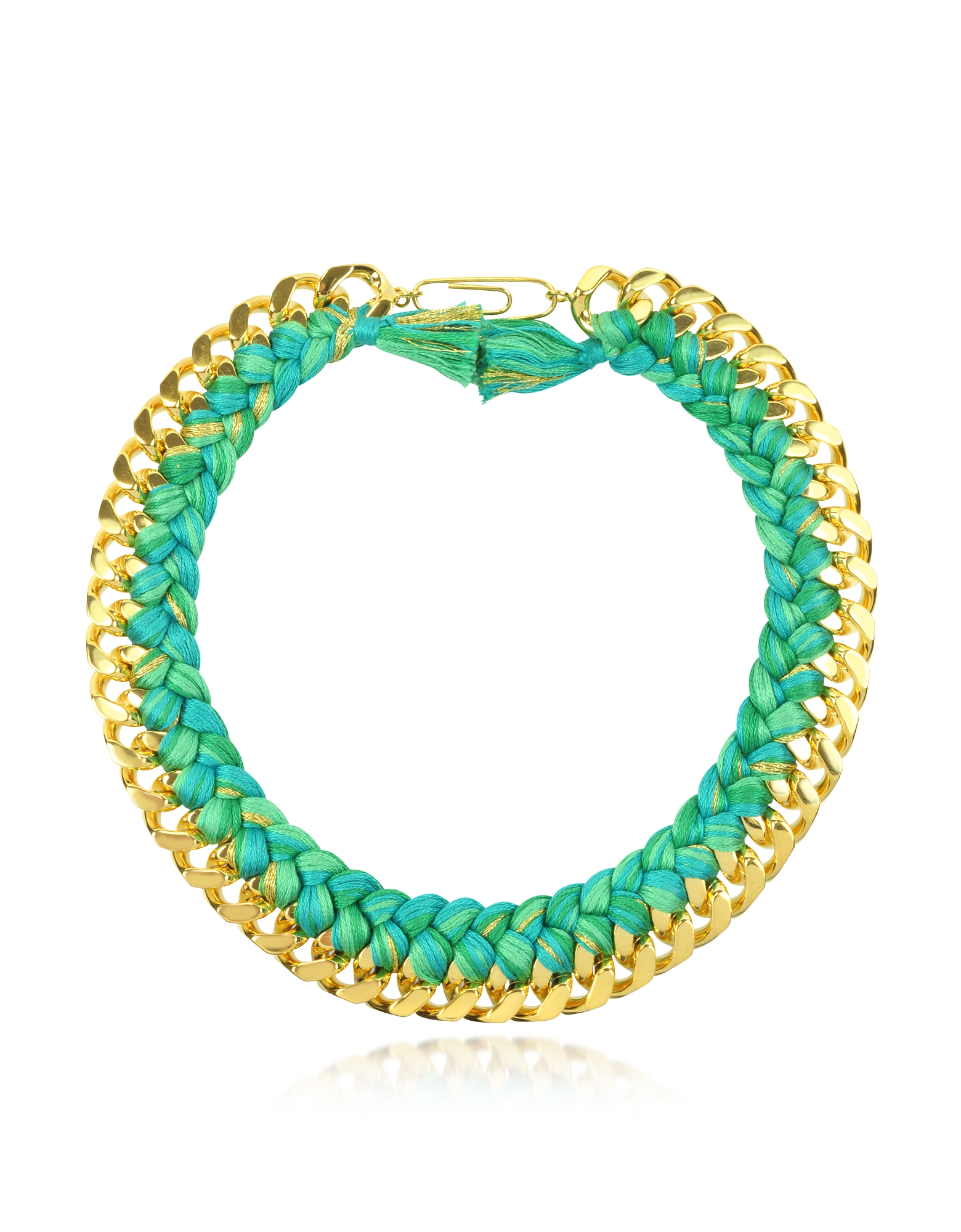 Aurelie Bidermann Necklaces, Do Brasil Gold and Cotton Necklace