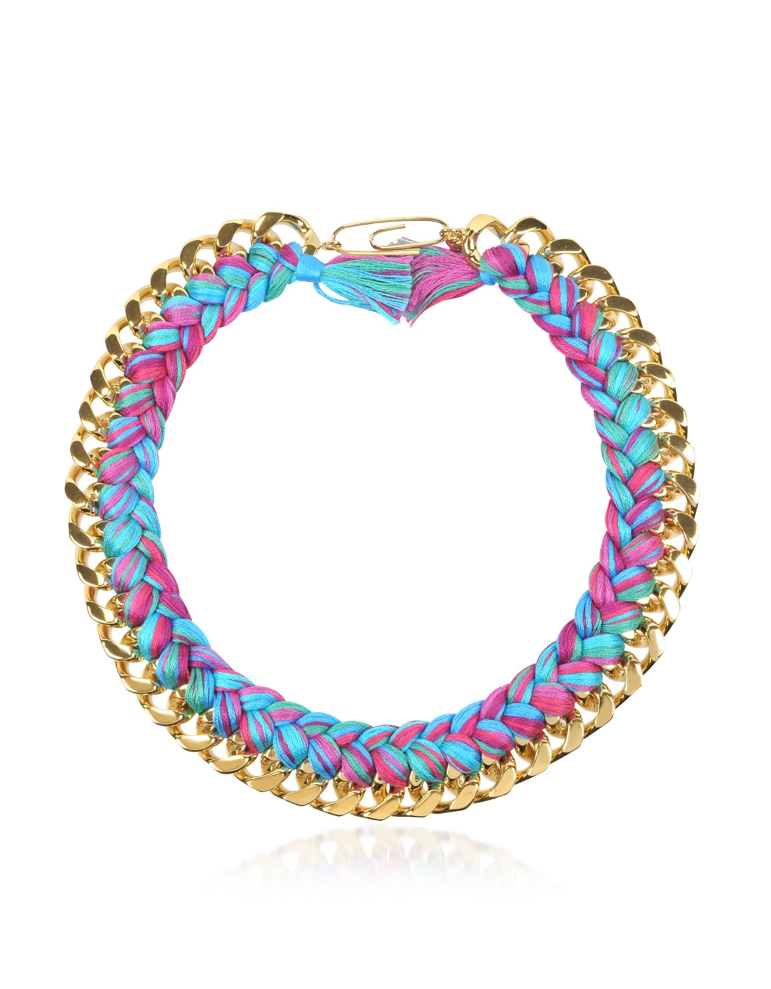 Aurelie Bidermann Necklaces, Do Brasil Gold and Cotton Necklace
