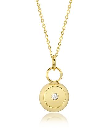 Aurelie Bidermann - Telemaque 18K Yellow Gold and Diamond Bell Charm