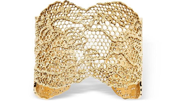 Vintage Lace Gold Plated Bracelet - Aurelie Bidermann