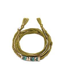 Takayama Turquoise Stones and Olivine Thread Bracelet - Aurelie Bidermann