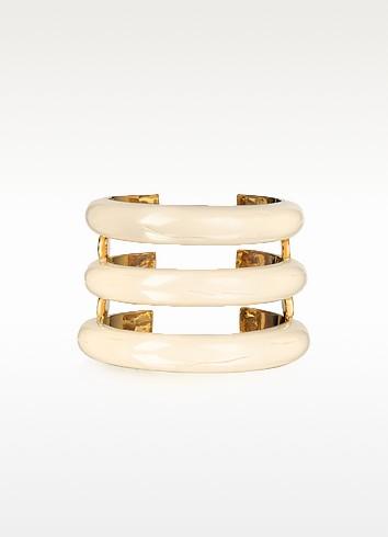 Studded Caftan Gold Plated and Resin Horn Moon Cuff - Aurelie Bidermann