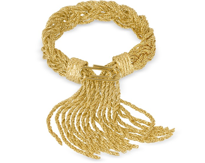 Miki Gold Plated Braided Rope Bracelet - Aurelie Bidermann