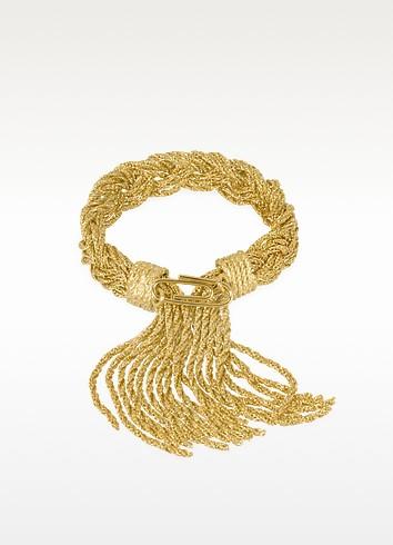 Miki Gold Plated Braided Rope Bracelet - Aurelie Bidermann