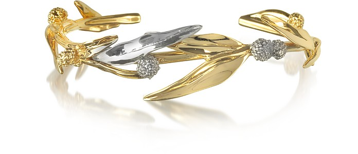18K gold-plated Brass Mimosa Bangle Bracelet - Aurelie Bidermann