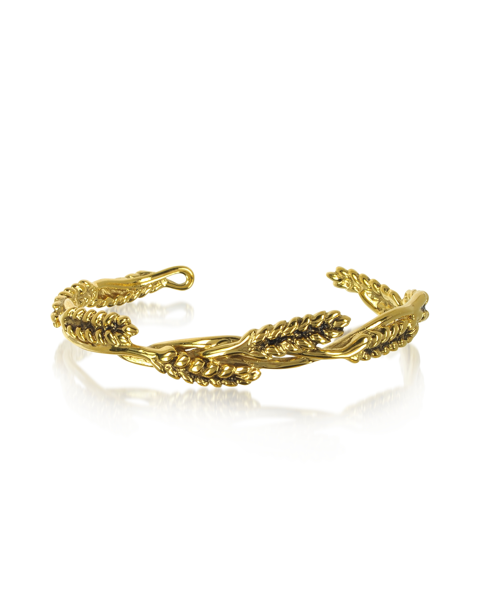 Aurelie Bidermann Bracelets, Wheat 18K Gold-Plated Bangle