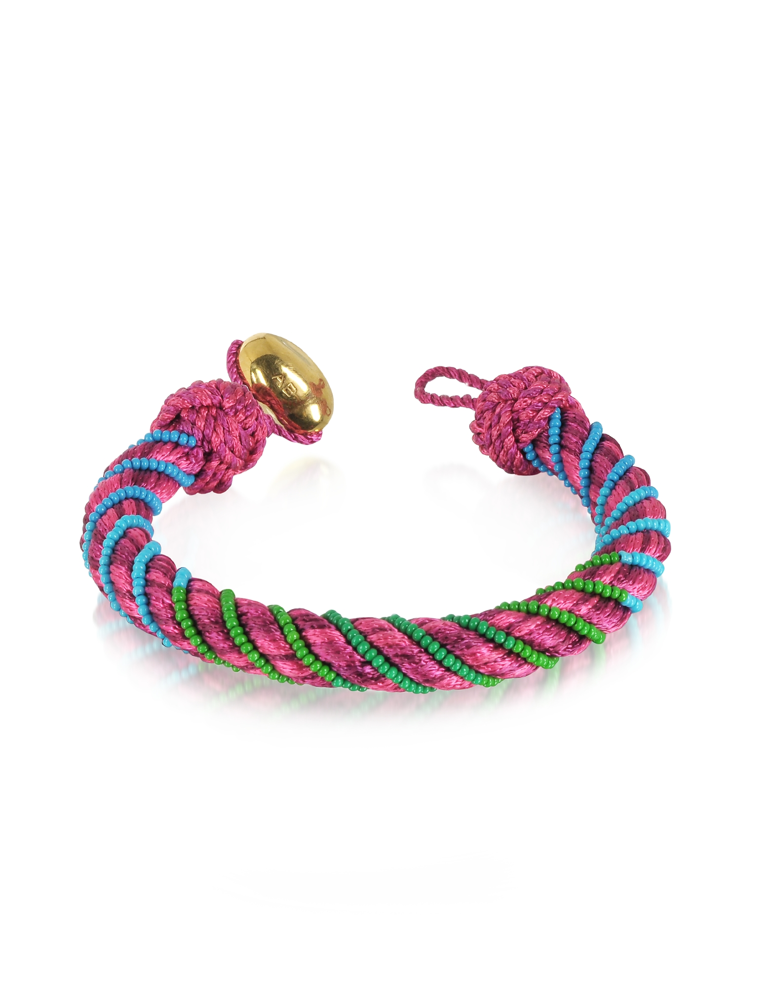 Aurelie Bidermann Bracelets, Maya Peony Bracelet w/18K Gold-Plated Bead
