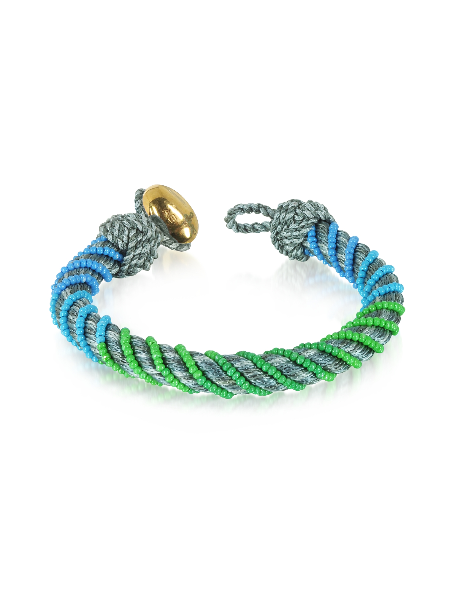 Aurelie Bidermann Bracelets, Maya Anthracite Bracelet w/18K Gold-Plated Bead