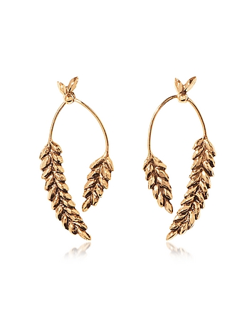 Aurelie Bidermann - Wheat Gold Plated Earrings