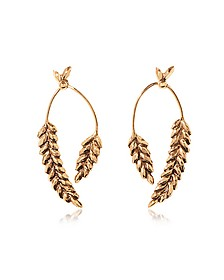 Wheat Gold Plated Earrings