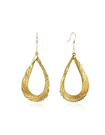 Aurelie Bidermann - Gold Swan Feather Earrings