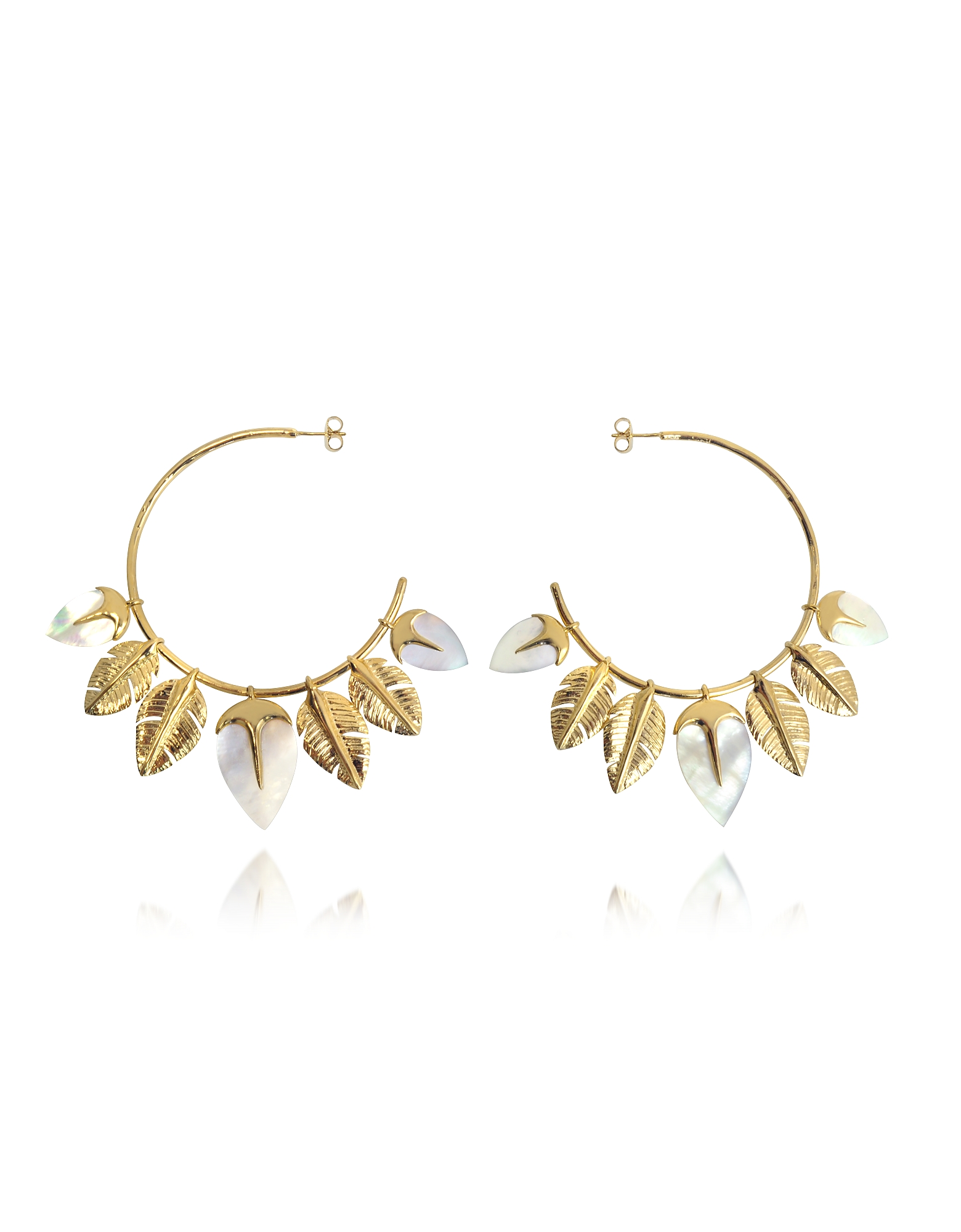 Aurelie Bidermann Earrings, Talitha Hoop Earrings
