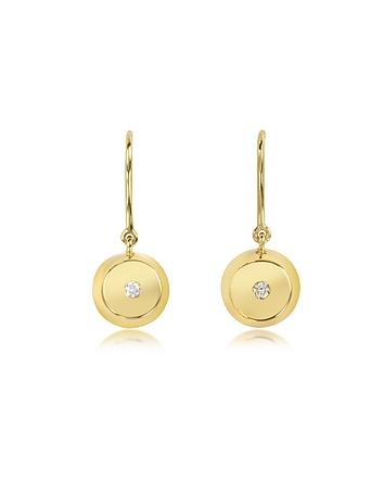 Cercei din aur cu diamante AURELIE BIDERMAN, 18k