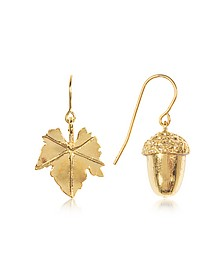 18K Gold-Plated Barbizon Earrings - Aurelie Bidermann