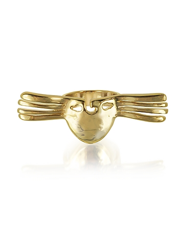 Aurelie Bidermann - Melina Winged Mask Ring