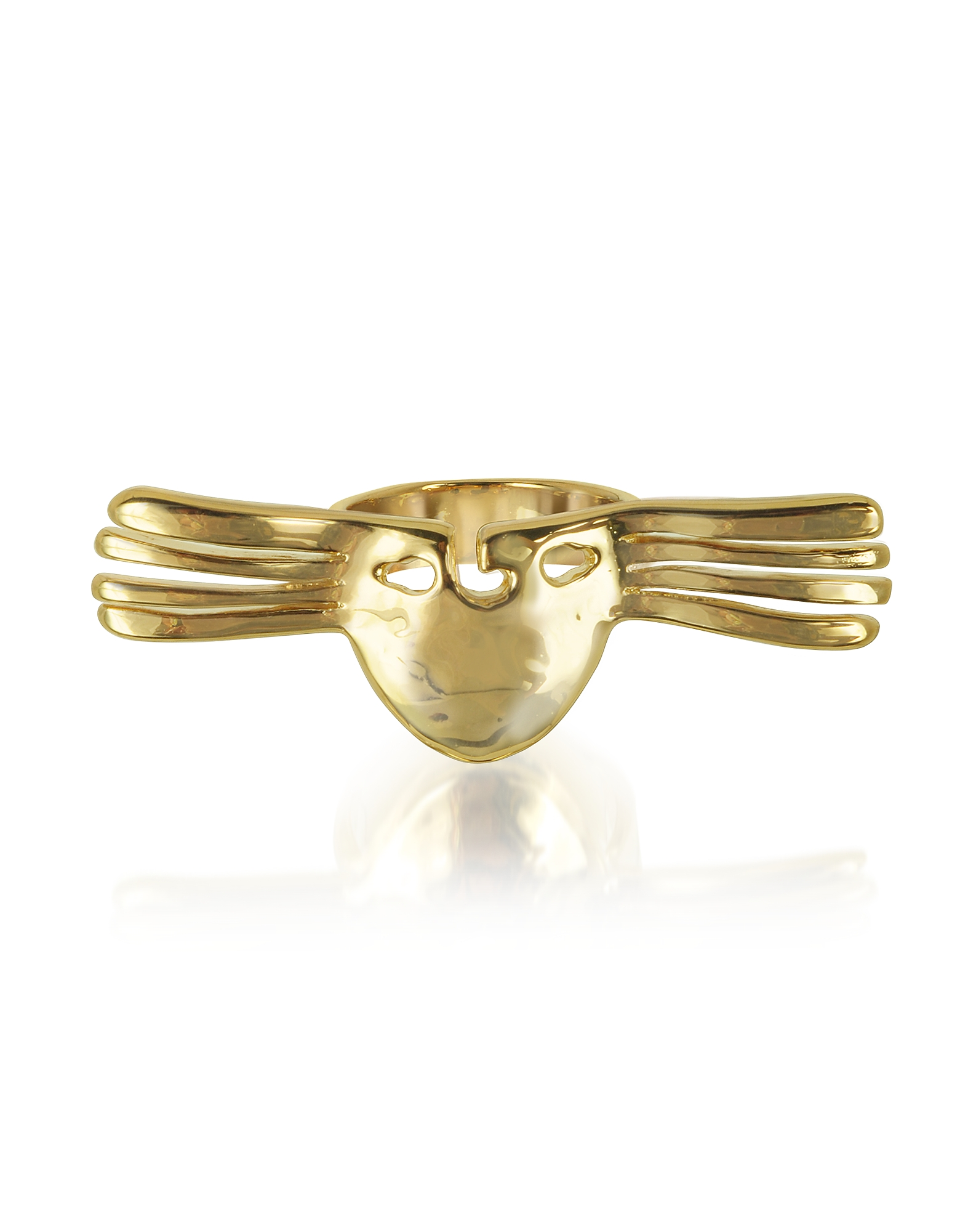 Aurelie Bidermann Rings, Melina Winged Mask Ring