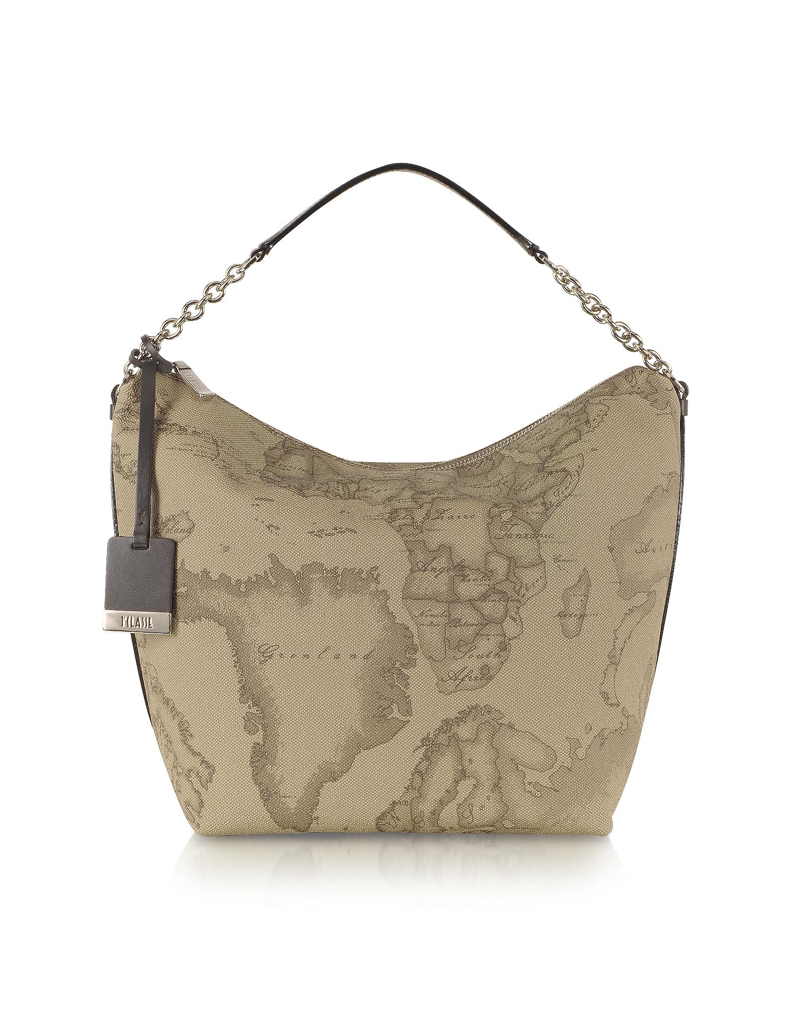 "1a Prima Classe - Geo Printed Medium ""Contemporary"" Shoulder Bag"