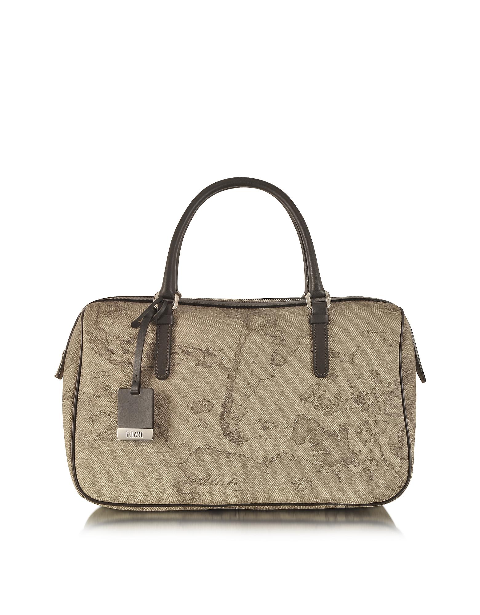 1a Prima Classe - Geo Printed Medium 'New Basic' Satchel Bag