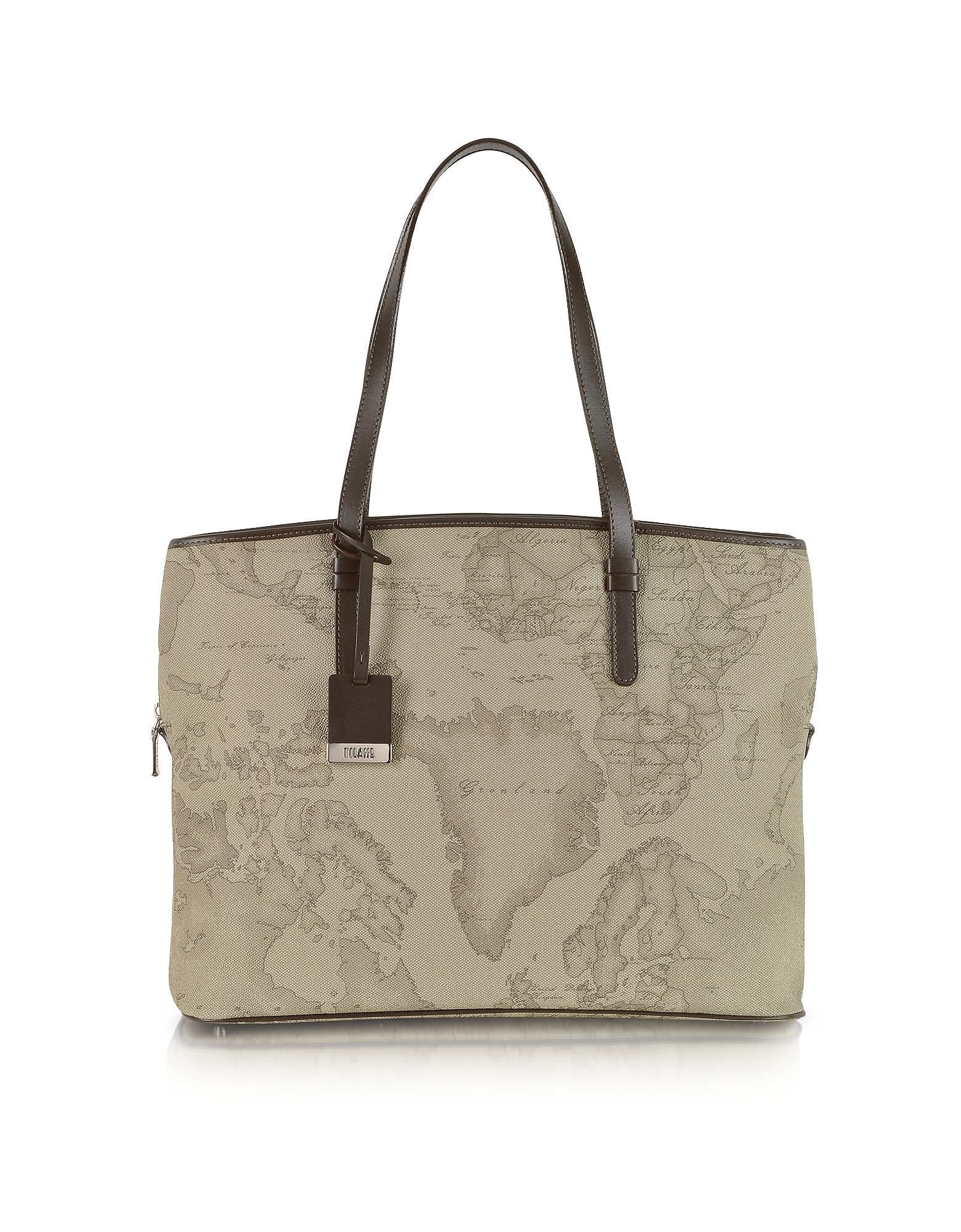 "Image of 1a Prima Classe - Geo Printed Large Business ""New Classic"" Shoulder Bag"