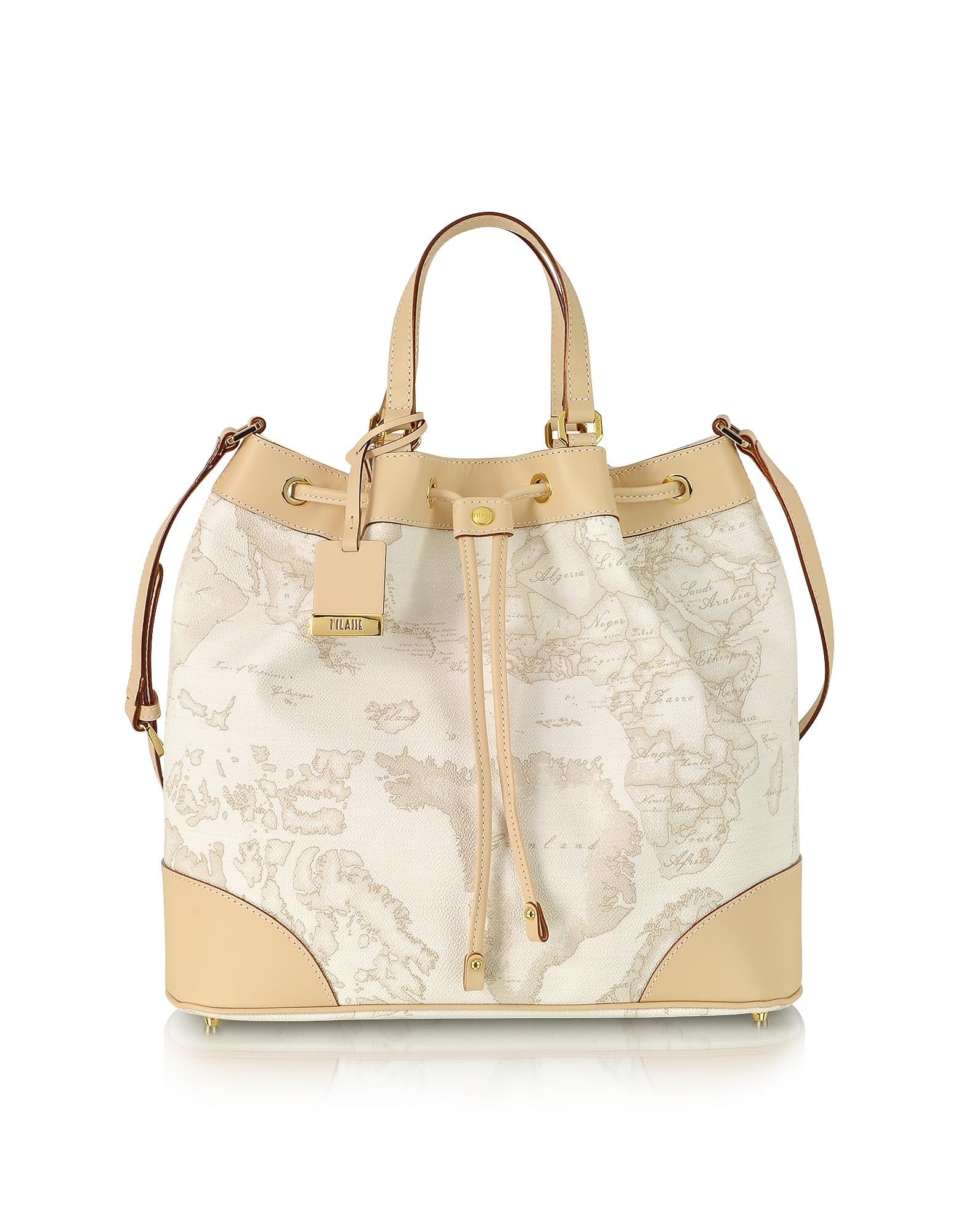"Alviero Martini 1A Classe Handbags, 1a Prima Classe - Geo Printed ""Neo Casual"" Bucket Bag"
