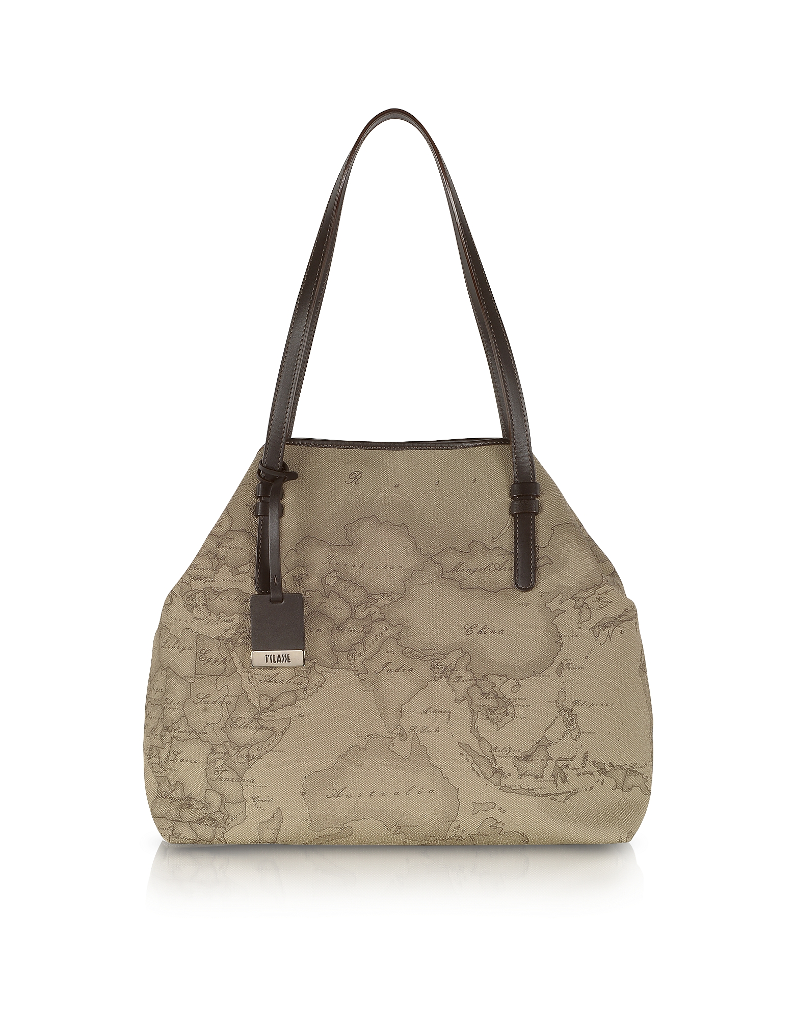 Alviero Martini 1A Classe Designer Handbags, Geo Printed Large 'New Basic' Shoulder Bag (Luggage & Bags) photo
