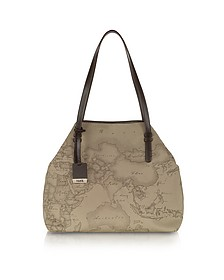 Geo Printed Large 'New Basic' Shoulder Bag - Alviero Martini 1A Classe