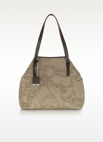 Geo Printed Large 'New Basic' Shoulder Bag - Alviero Martini 1A Classe