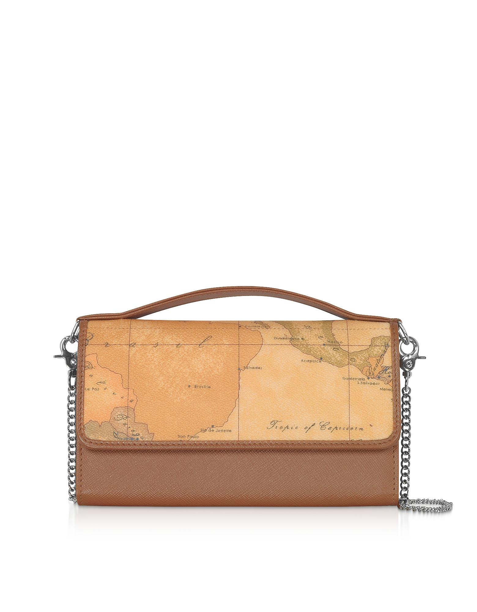 Alviero Martini 1A Classe Designer Handbags, Phone Holder Wallet Purse w/Chain Strap
