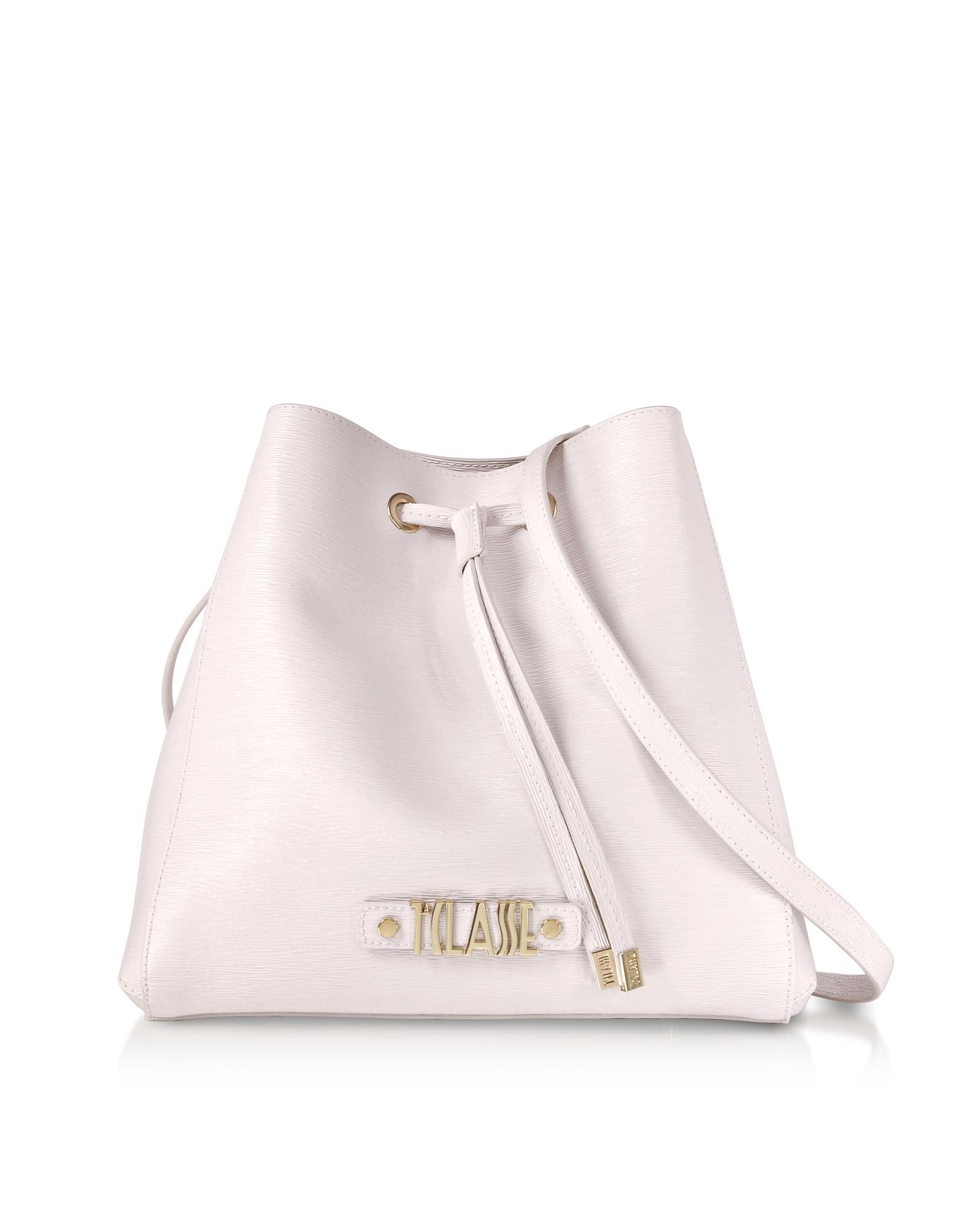 Alegria Smile Saffiano Print Bucket Bag