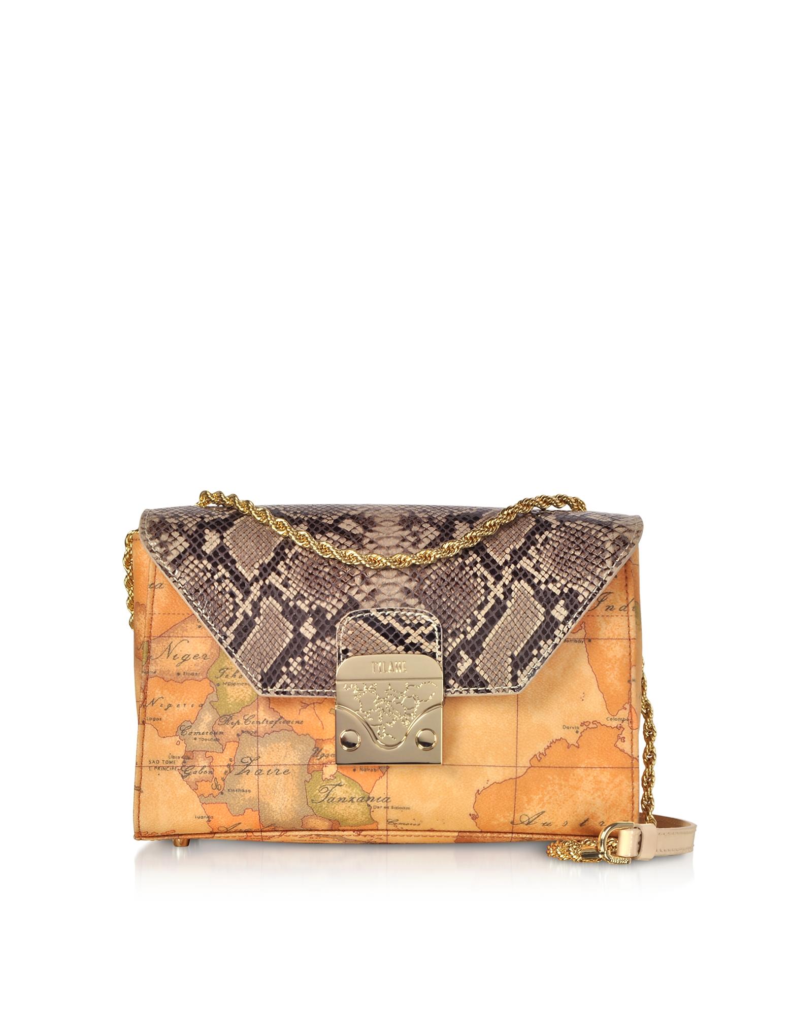 Reptile & Geo Printed Amor Crossbody Bag